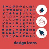 100 creative design icons, signs, symbols set, vector
