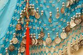 picture of tassels  - A blue vintage belly dancer - JPG