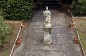 PORTOFERRAIO, ELBA, ITALY - MAY 03, 2014: Statue of Minerva in the garden of the the Villa dei Mulin
