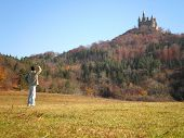 Man Hohenzollern Castle Nature