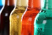 Soda Drinks With Cola In Bottles