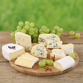 Cheese Plate With Camembert, Gorgonzola And Brie