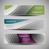 Banner or Header Design with Abstract Striped Pattern