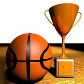 Basketball And Cup