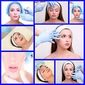 Plastic surgery collage