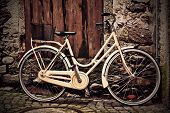 Italian Old-style Yellow Bicycle