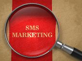 SMS Marketing through Magnifying Glass.