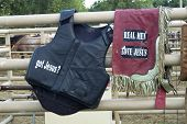picture of brahma-bull  - Rodeo riding vests with a religious message - JPG