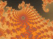 Decorative fractal background in a orange colors.