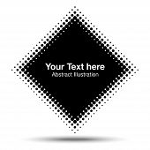 Abstract Halftone Design Element