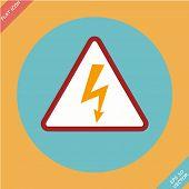 High Voltage Sign - vector illustration.