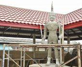 Building Thai guard statue