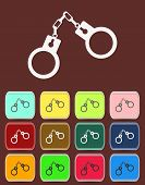 Handcuffs - Vector icon with color variations