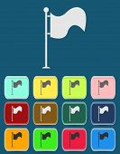 Vector Flag Icon with color variations, vector