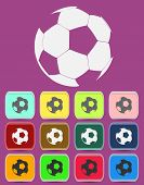 Creative Soccer Ball Icon