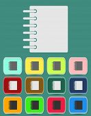 Ring binder calendar notepad - Vector icon