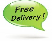 Vector Green Free Delivery Speech