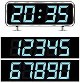 Vector Digital Metal Clock