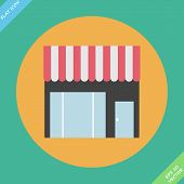Storefront icon - vector illustration.
