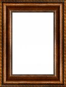 Antique Rustic Dark Wooden Picture Frame