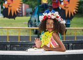 Victoria, Seychelles - April 26, 2014:creole Girl At The Carnaval International De Victoria In Seych