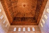 Square Shaped Domed Ceiling Alhambra Arch Moorish Wall Designs Granada Andalusia Spain