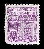 Soria castle stamp
