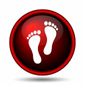 picture of webbed feet white  - Foot print icon - JPG