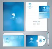 Template For Business Artworks. Vector Illustration.