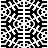 Abstract seamless black and white pattern - vector illustration