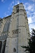 LE MANS,FRANCE,JULY 12: Cathedral of Le Mans (Sarthe, Pays de la Loire, France) -  on July 12,2014 i