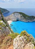 Navagio Beach In Greece Island Zakynthos