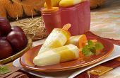 Homemade ice cream yogurt and fresh fruit