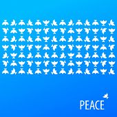 Poster - for peace. Vector pattern.
