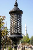 Close Up Details Of Lamppost In Istanbul