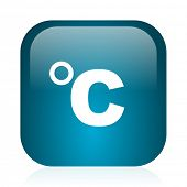 celsius blue glossy internet icon