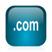 com blue glossy internet icon