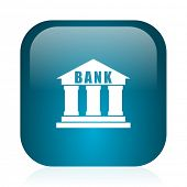 bank blue glossy internet icon