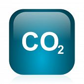 carbon dioxide blue glossy internet icon