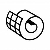 Netting roll icon