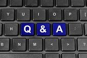 Q&a Or Questions And Answers Word On Keyboard