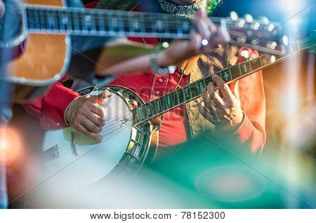 Banjo Player In The Country Band