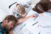 Architects Fell Asleep While Working