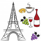 An image of Paris symbols.