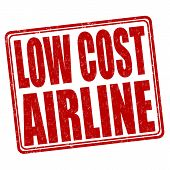 Low Cost Airline Stamp