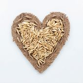 Frame In The Shape Of Heart With  Oats