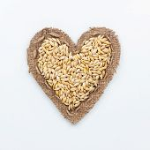 Frame In The Shape Of Heart With  Barley