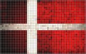 Abstract Mosaic flag of Denmark