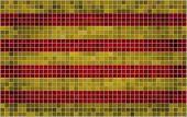 Mosaic Flag of Catalonia