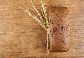 Rye Bread With Ears Of Wheat